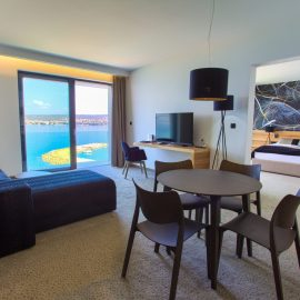 President Suit living room with the sea view