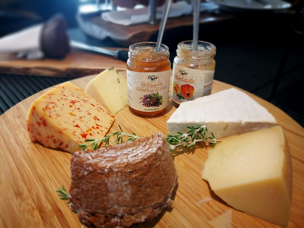 Breakfast Buffet  features different types of local cheeses